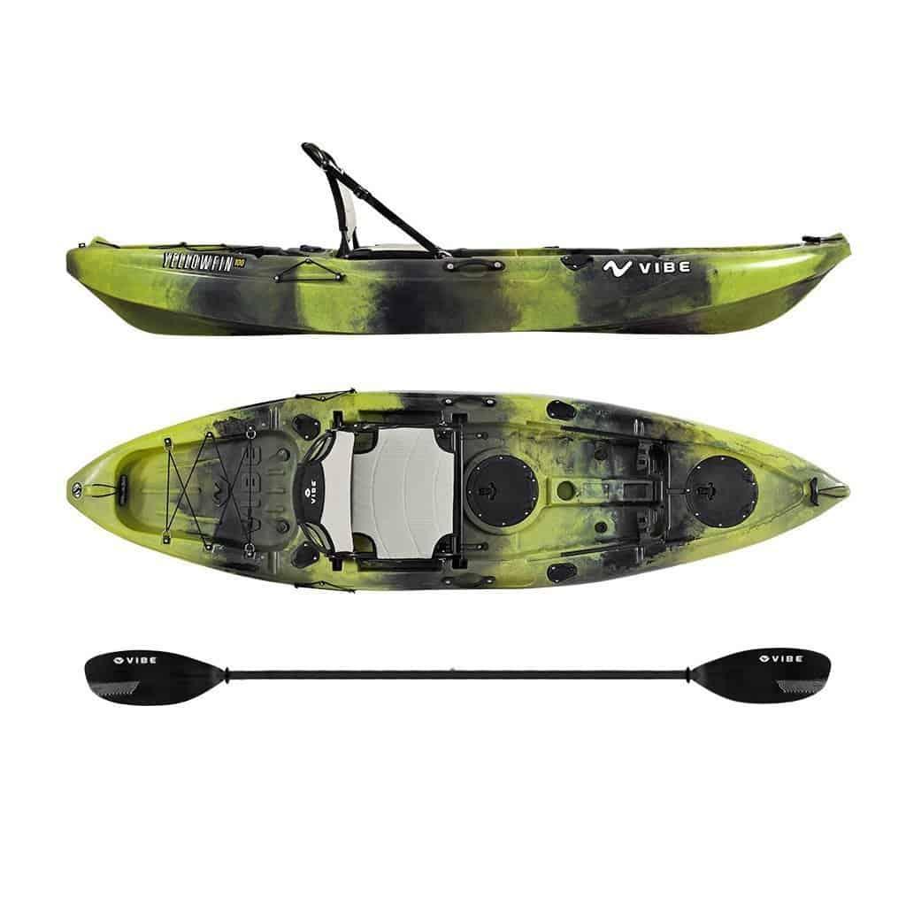 Vibe Kayaks Yellowfin 100 10 foot Angler Sit On Top Kayak