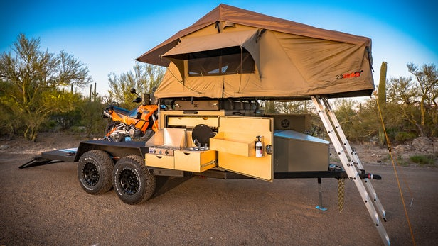turtlebacker toy hauler camping trailer 13