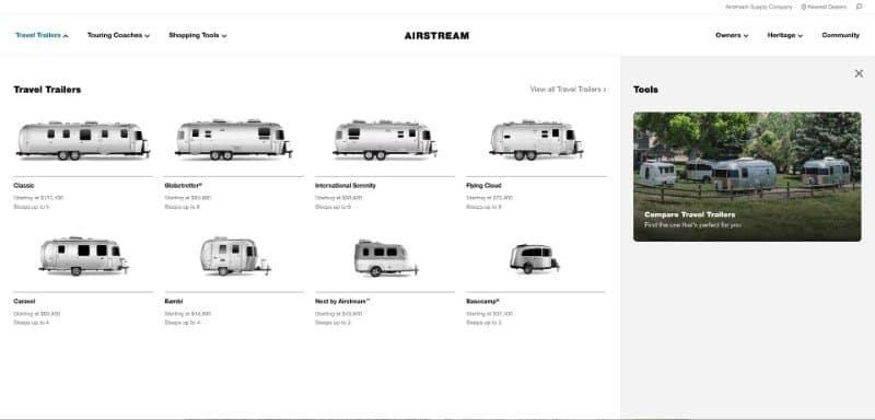 Airstream USA Travel Trailers Touring Coaches Airstream 2019 06 27 13.00.34