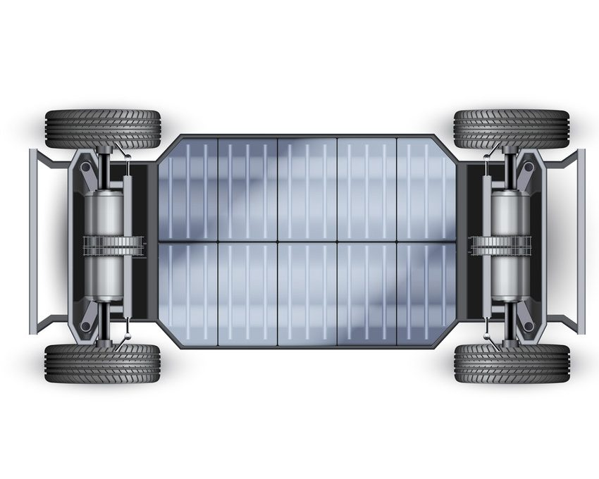 Electric Car Chassis with battery