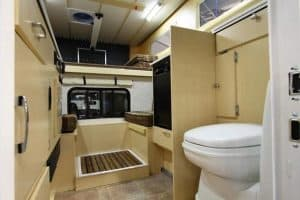 Truck Campers Come with Bathrooms